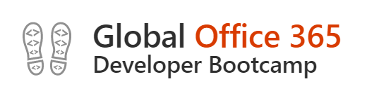 Office 365 bootcamp logo with two boot prints