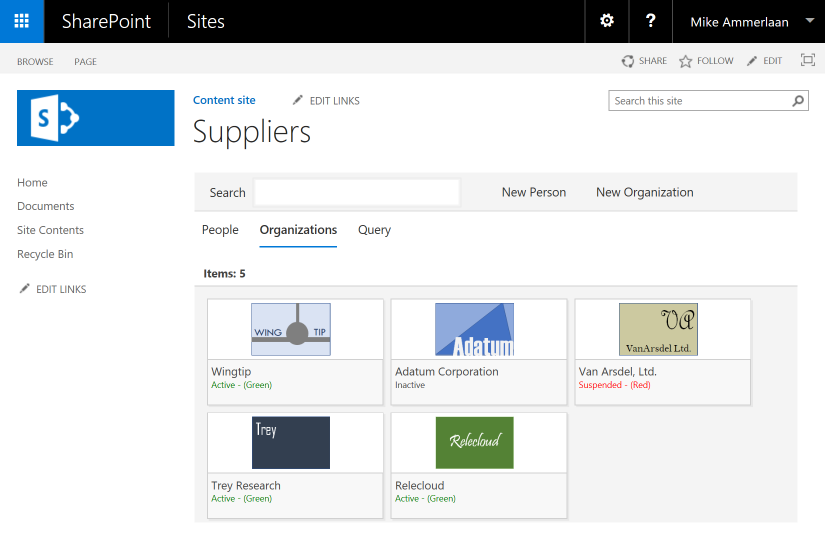Supplier SPFx Web Part in a SharePoint Server 2016 page