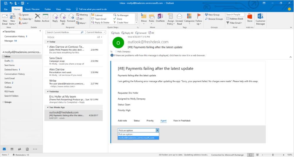 create email in outlook