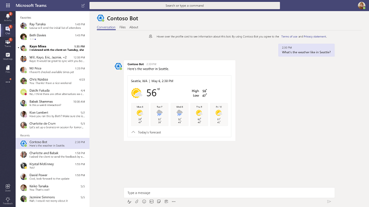Adaptive Cards in Microsoft Teams