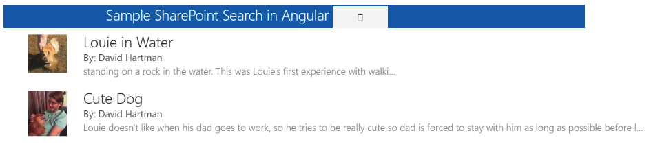 Logo for Angular SharePoint Search, from the SPFx Samples repo