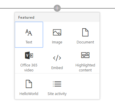 Toolbox in SharePoint Workbench running in SharePoint Online site