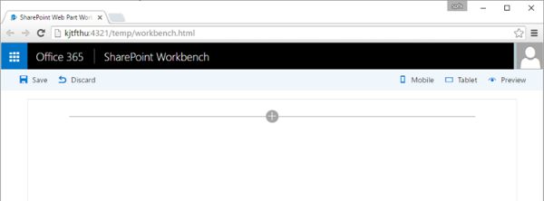SharePoint Workbench running locally